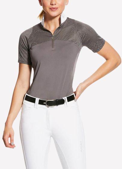 Ariat Womens Airway Show Shirt - Plum Grey