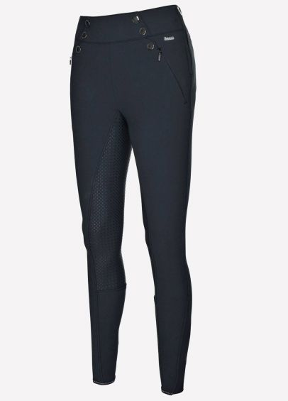 Pikeur Ladies Aiyana Grip Breeches With Full Seat Panel - Black