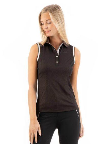 Anky Sleeveless Polo Shirt - Black