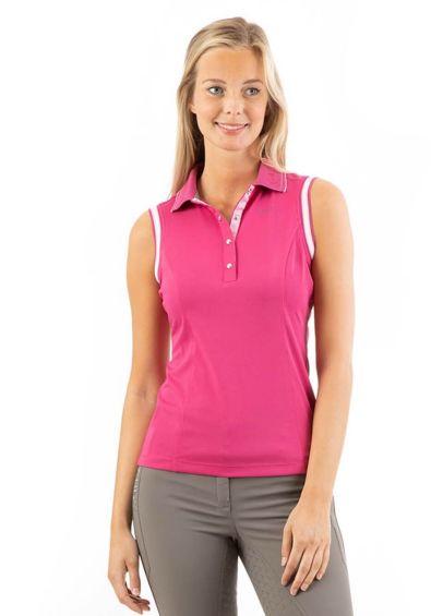 Anky Sleeveless Polo Shirt - Very Berry