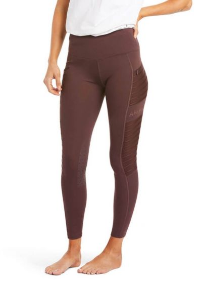 Ariat EOS Moto Knee Patch Tights - Cocoa