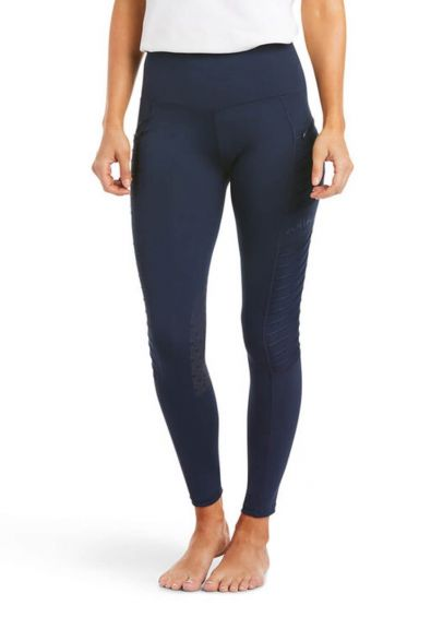 Ariat EOS Moto Knee Patch Tights - Navy