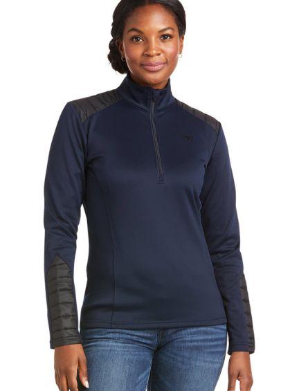 Ariat Womens Ismay 1/2 Zip Sweatshirt - Dark Sapphire