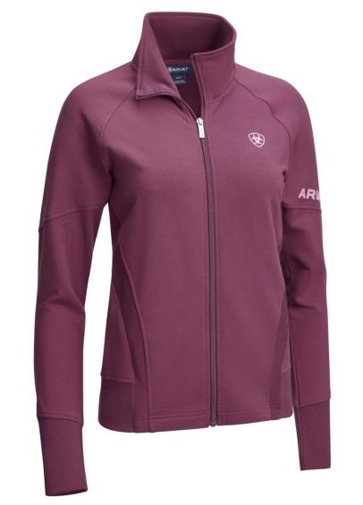 Ariat Largo Full Zip Sweatshirt - Italian Plum