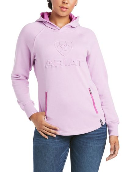 Ariat Womens 3D Logo Hoodie - Violet Tulle