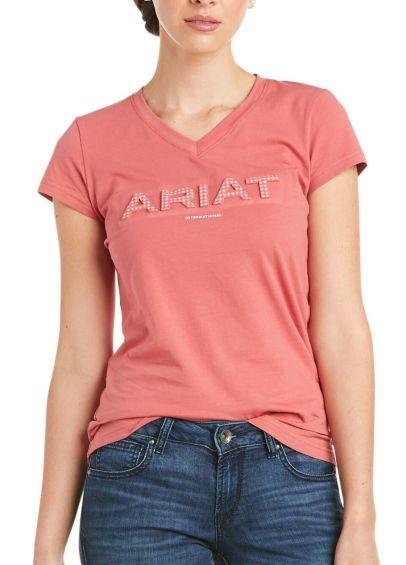 Ariat Womens 3D Logo T-Shirt - Amaranth