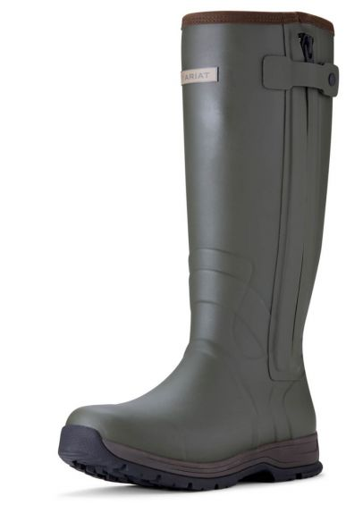Ariat Men's Burford Insulated Zip Wellingtons - Olive Night