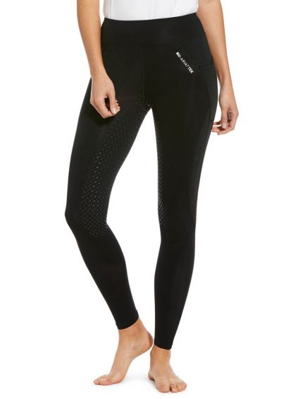 Ariat Prevail Insulated Full Seat Tights - Black Reflective
