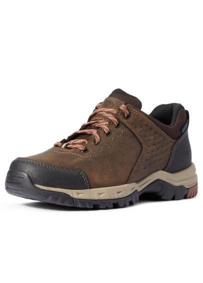 Ariat Womens Skyline H2O Low Lace Shoe - Distressed Brown