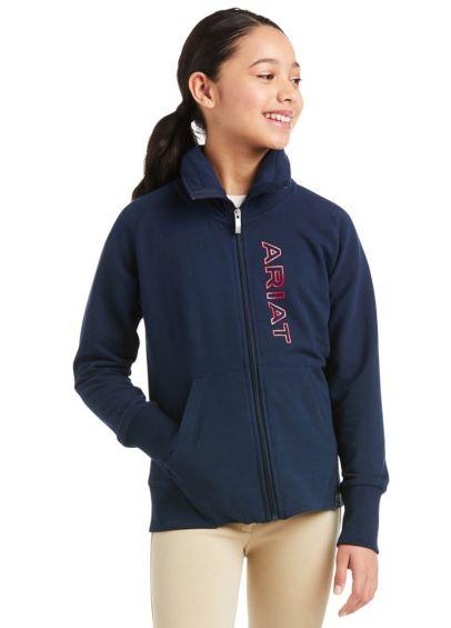 Ariat Kids Team Logo Full Zip Sweatshirt - Team