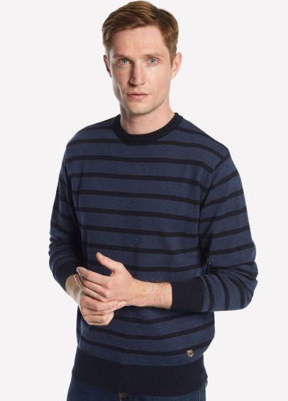 Dubarry Mens Avondale Sweater - Navy Multi