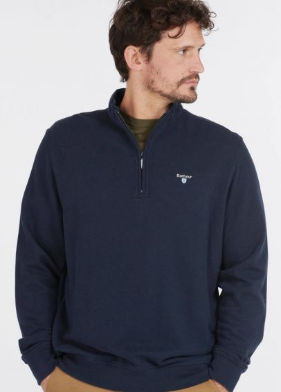 Barbour Bankside Half Zip Sweatshirt - Navy
