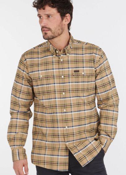 Barbour Barton Coolmax Shirt - Stone