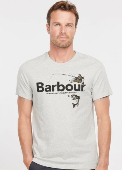 Barbour Outdoors Graphic T-Shirt - Grey Marl