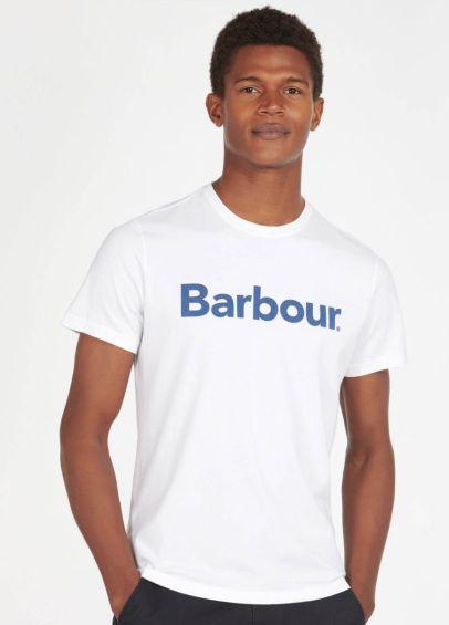 Barbour Logo Tee - White