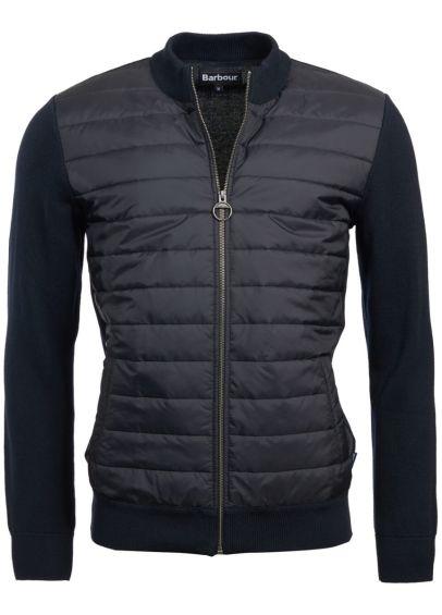Barbour Carn Baffle Zip Thru Sweater - Navy