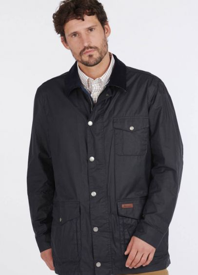 Barbour Pavier Waxed Jacket - Royal Navy