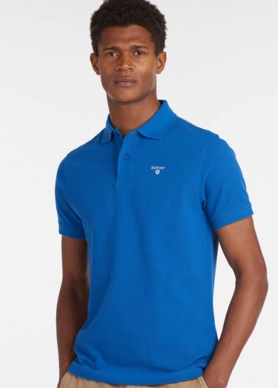 Barbour Sports Polo Shirt - Sport Blue