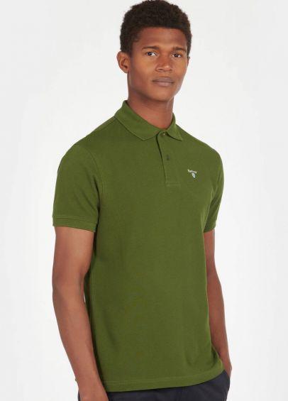 Barbour Sports Polo Shirt - Rifle Green