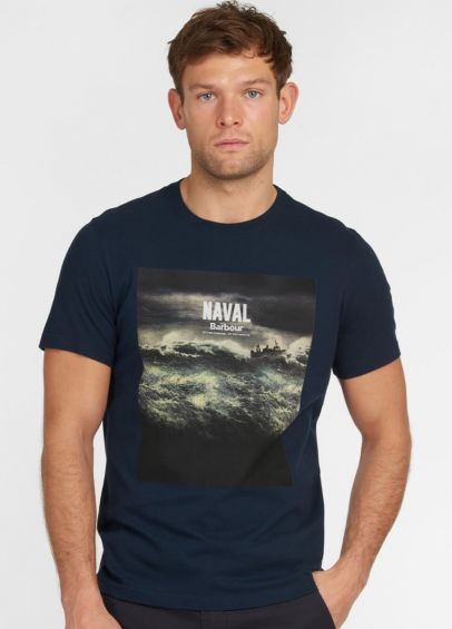 Barbour Tidal Graphic T-Shirt - Navy