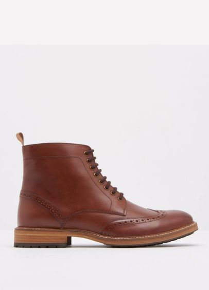 Joules Barnes Lace-up Boots - Tan