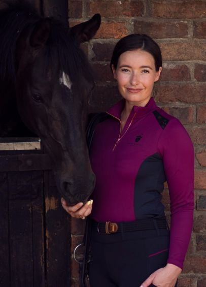 Blackfort Equestrian Lace Base Layer - Plum/Black