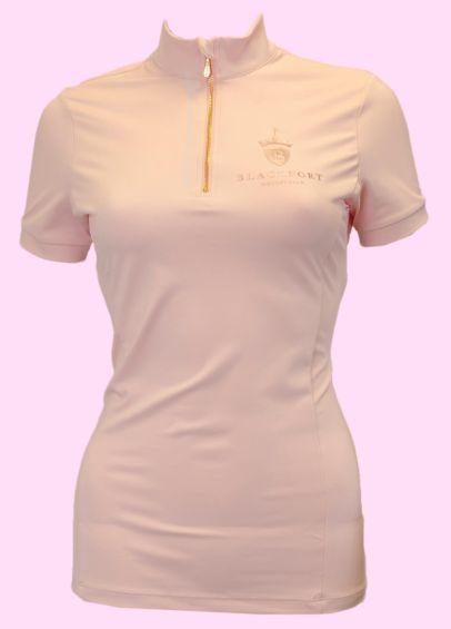 Blackfort Equestrian Short Sleeve Base Layer - Light Pink