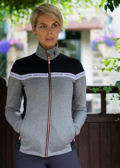 Blackfort Equestrian Zip Up Jacket - Black/Grey