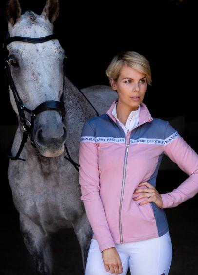 Blackfort Equestrian Zip Up Jacket - Light Pink/Grey