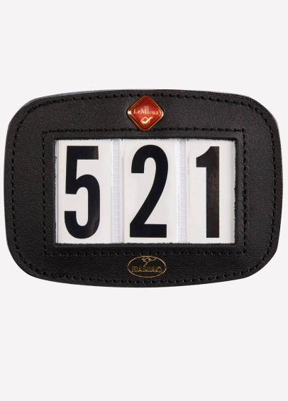 LeMieux Leather Saddle Pad Number Holder - Black