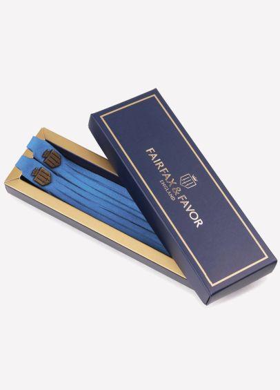 Fairfax & Favor Suede Boot Tassels - Cobalt Blue