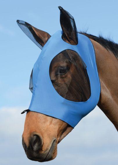 Weatherbeeta Stretch Bug Eye Saver With Ears - Royal/Black