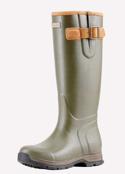 Ariat Ladies Burford Insulated Wellingtons - Olive Green
