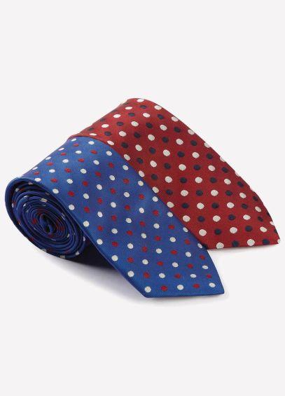 Caldene Small Spot Tie - Royal Blue
