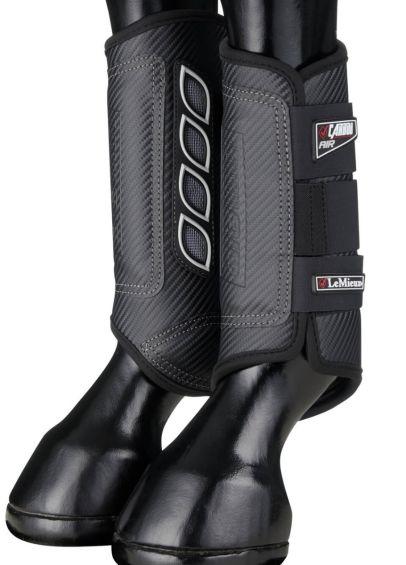 LeMieux Carbon Air XC Boots Hind - Black