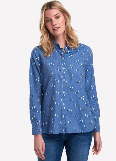 Barbour Ladies Scallop Shirt - Chambray