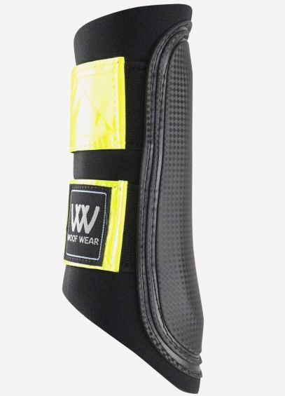 Woof Wear Club Brushing Boots - Black/Fluorescent