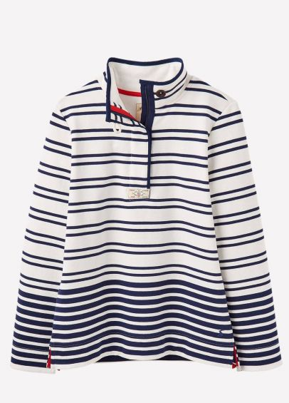 Joules Ladies Saunton Sweatshirt - Cream Navy Star