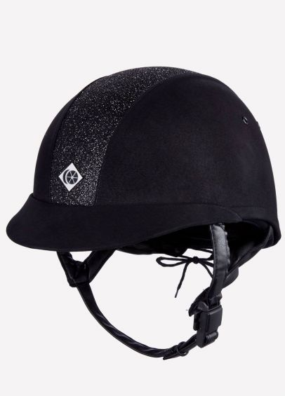 Charles Owen eLumen8 Microsuede Riding Hat - Black/Gold