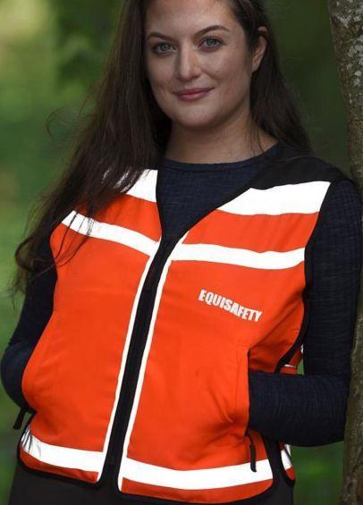 Equisafety HiViz Waistcoat - Red/Orange