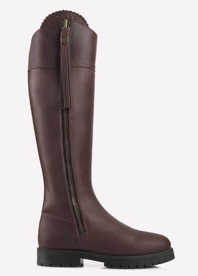 Fairfax & Favor Ladies Waterproof Leather Explorer Boots - Mahogany