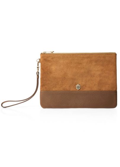 Fairfax & Favor Highbury Clutch Bag - Tan