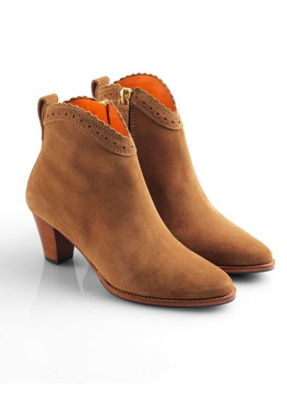 Fairfax & Favor Suede Regina Ankle Boots - Tan
