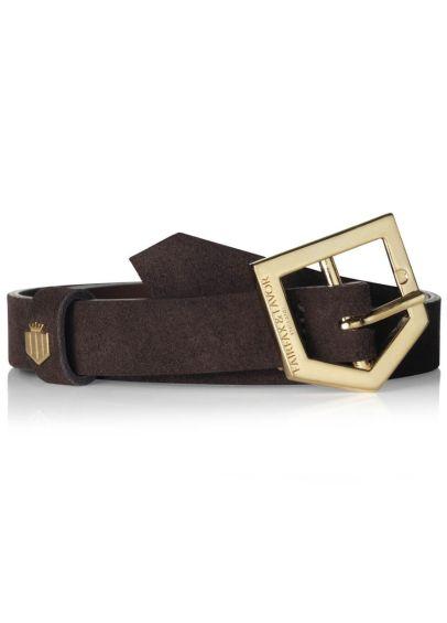Fairfax & Favor Sennowe Suede Belt - Chocolate