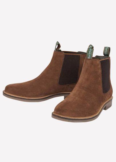 Barbour Mens Farsley Chelsea Boots - Caramel