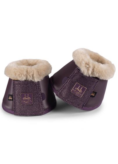 Eskadron Heritage Faux Fur Bell Boots - Deep Berry