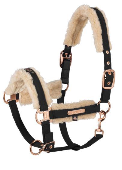 Eskadron Heritage Softshell Faux Fur Headcollar - Black