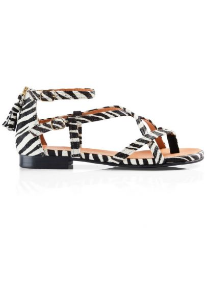 Fairfax & Favor Brancaster Sandal - Zebra