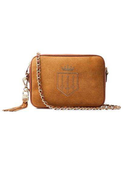 Fairfax & Favor Finsbury Suede Handbag - Tan