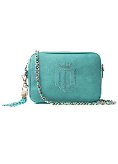 Fairfax & Favor Finsbury Suede Handbag - Turquoise